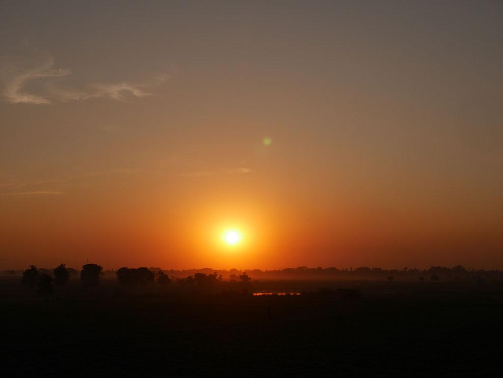 Sonnenuntergang bei Mandalay