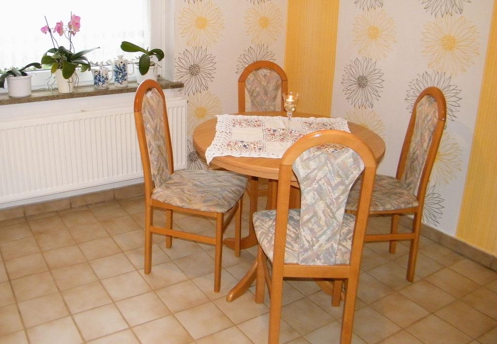 Die Sitzecke in der Küche
