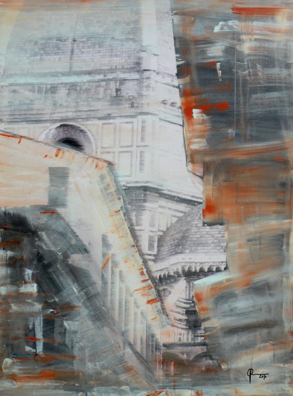 Il Duomo, Florenz, 75 x 100 cm, Mischtechnik auf Leinwand, 2016