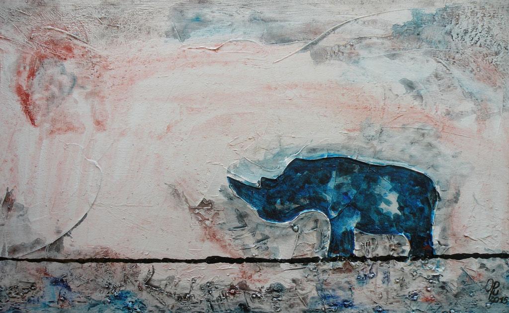 save the last 2, 70 x 40 cm, Mischtechnik auf Leinwand, 2015