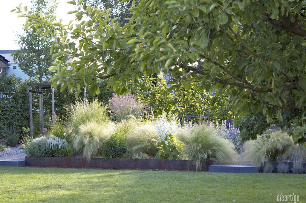 dieartigeGARTEN - Steppengarten | Blick aus dem WoZi