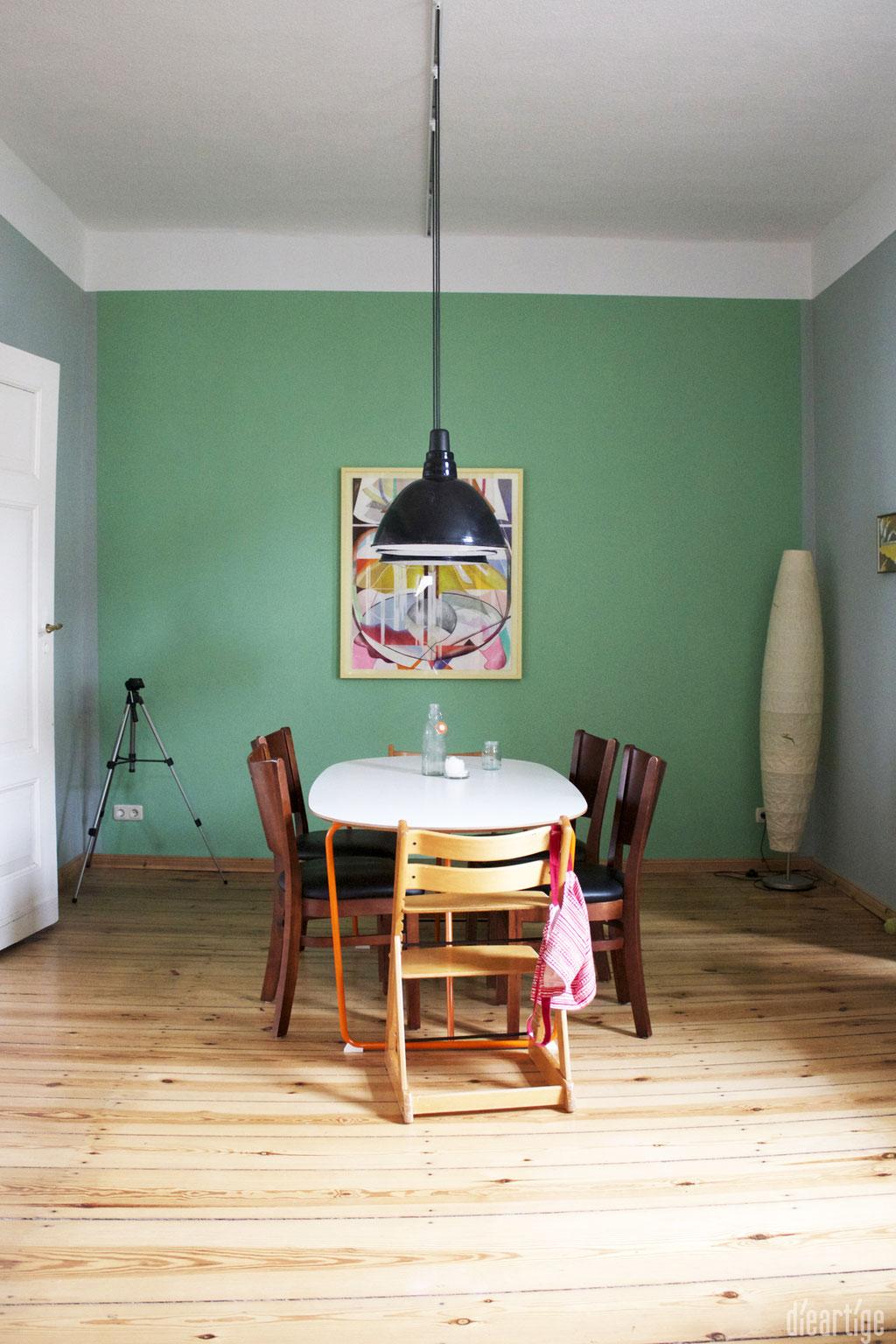 dieartige -Gestaltung | EssZi // Fam. F. | Wandfarbe Grün