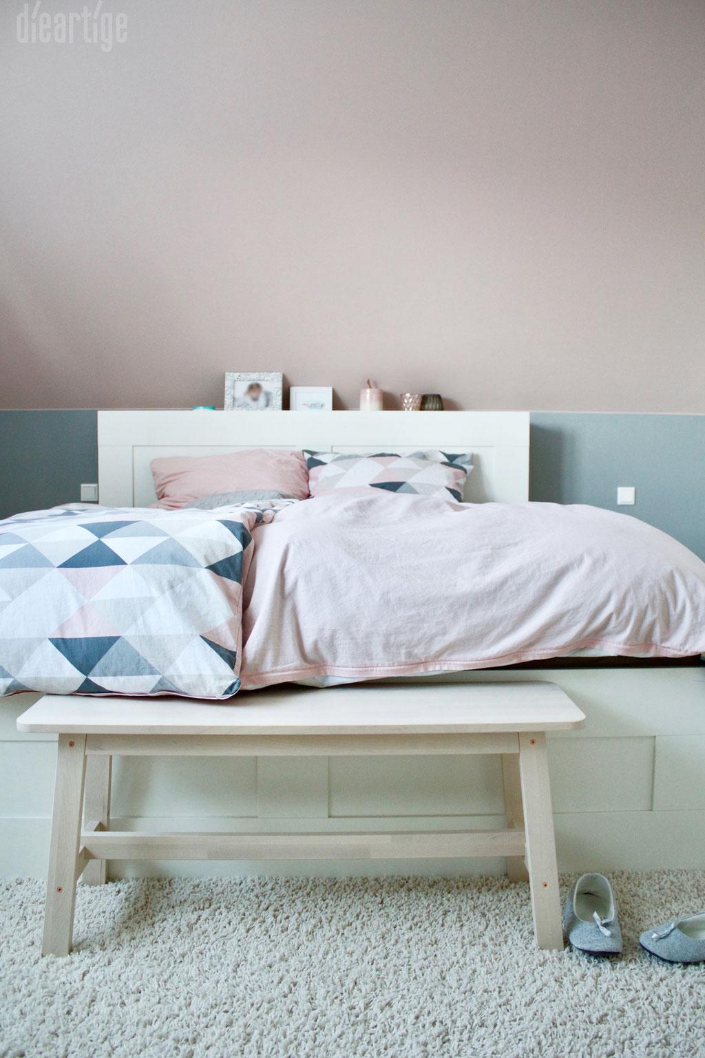 Fam. Z. | Schlafzimmer | Rosé, Grau