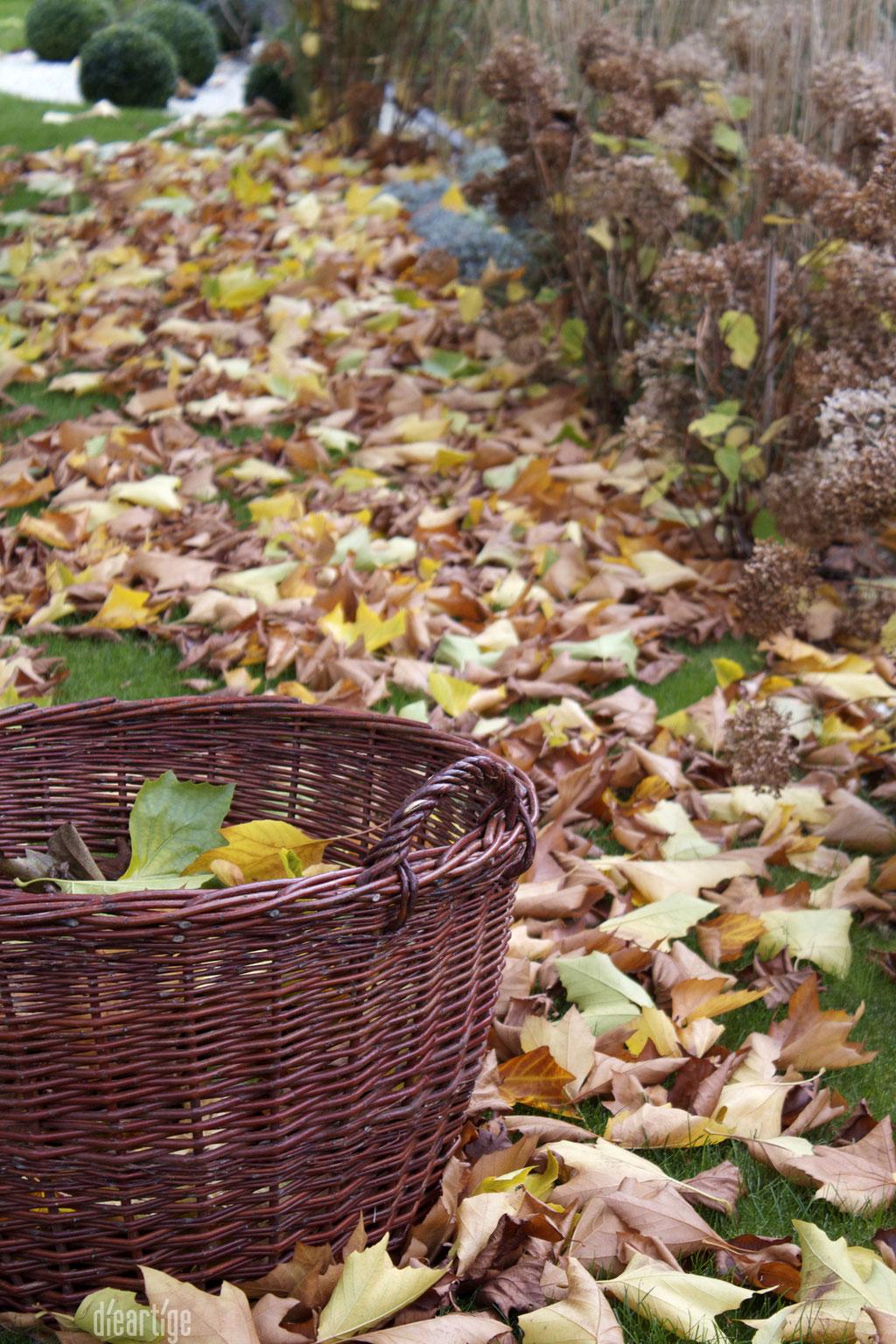 dieartigeBLOG - Kiepe zum Sammeln von Herbstlaub