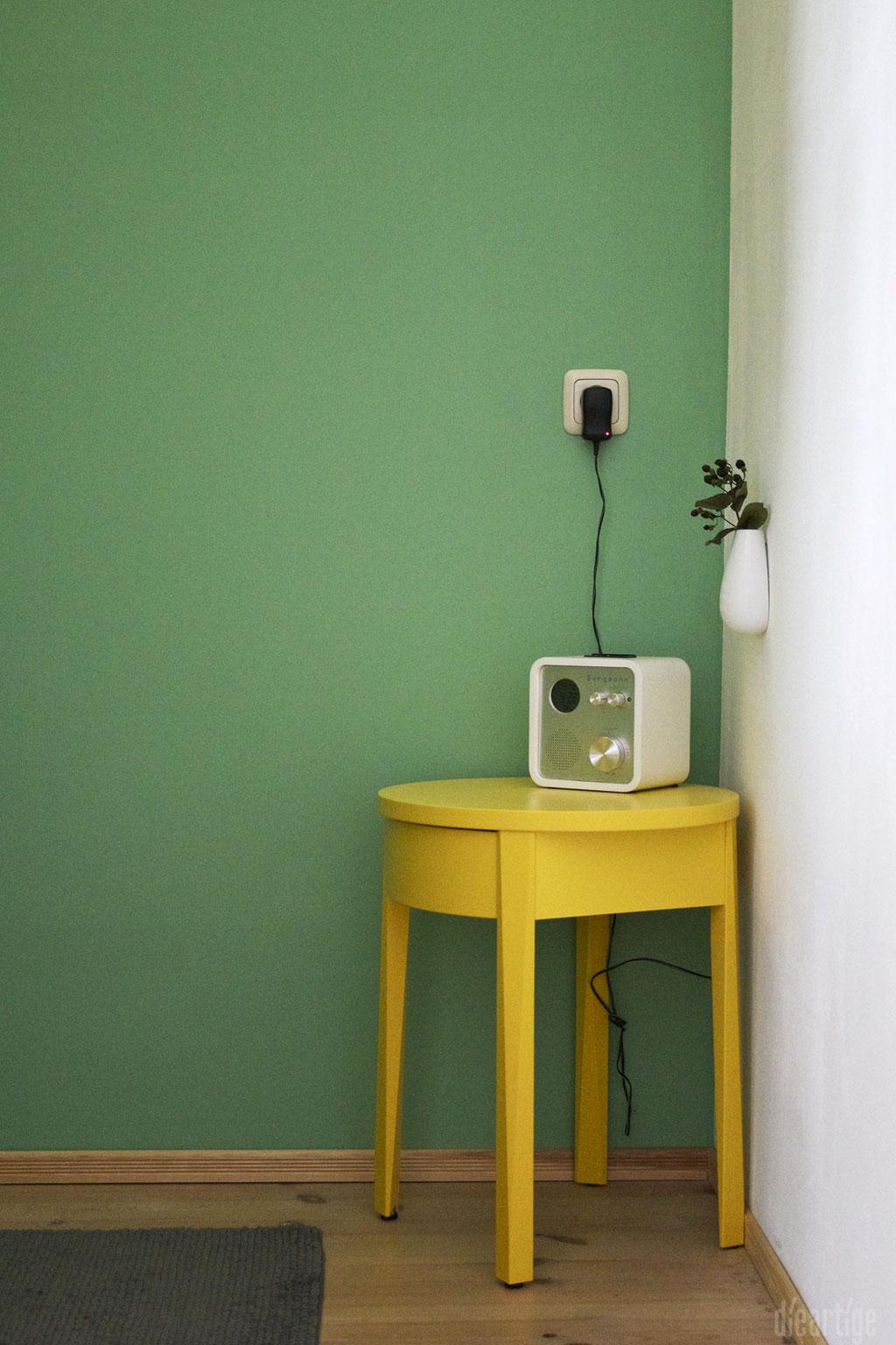 dieartigeUMBAU - Familie F. // Badezimmer // WC-Nische // Grün, Gelb, Weiß