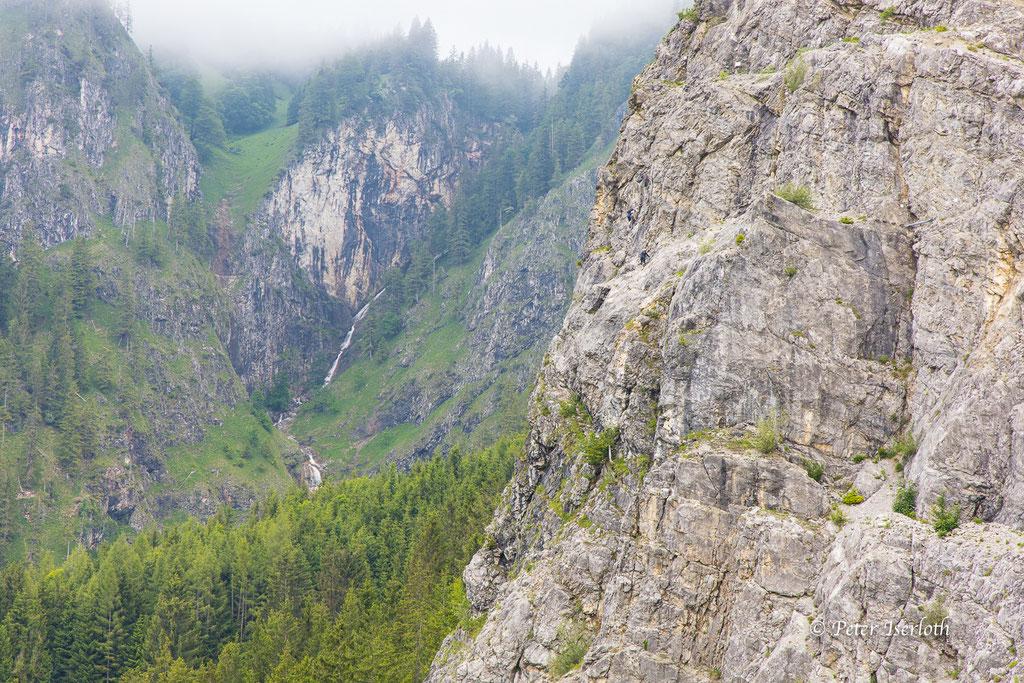 Bergsteiger im Berg, Allgäu, Deutschland