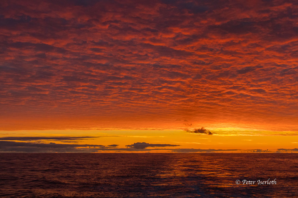 Sonnenaufgang auf dem Atlantik