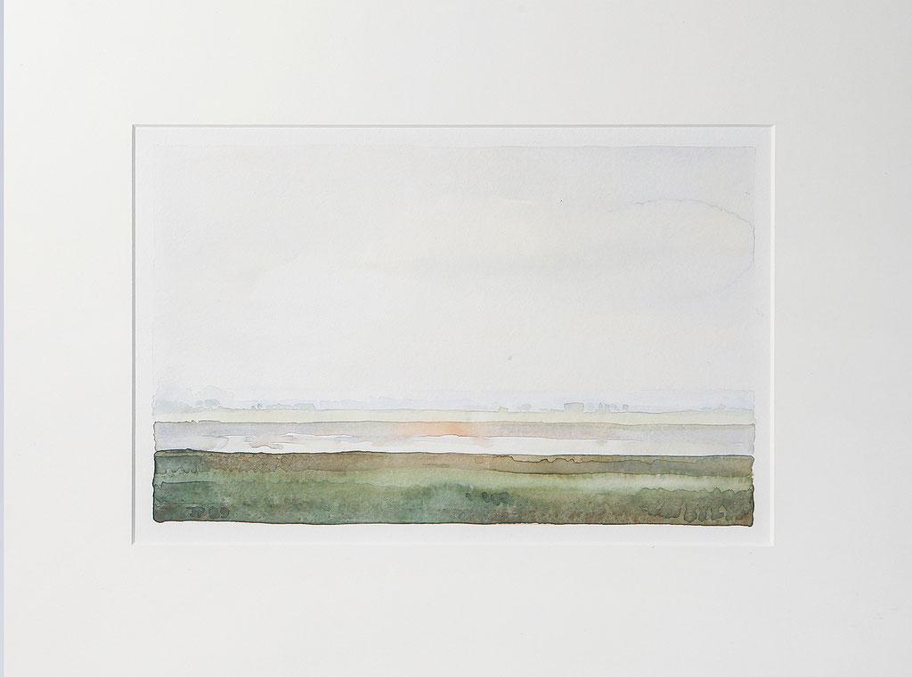 IJsselgezicht, aquarel