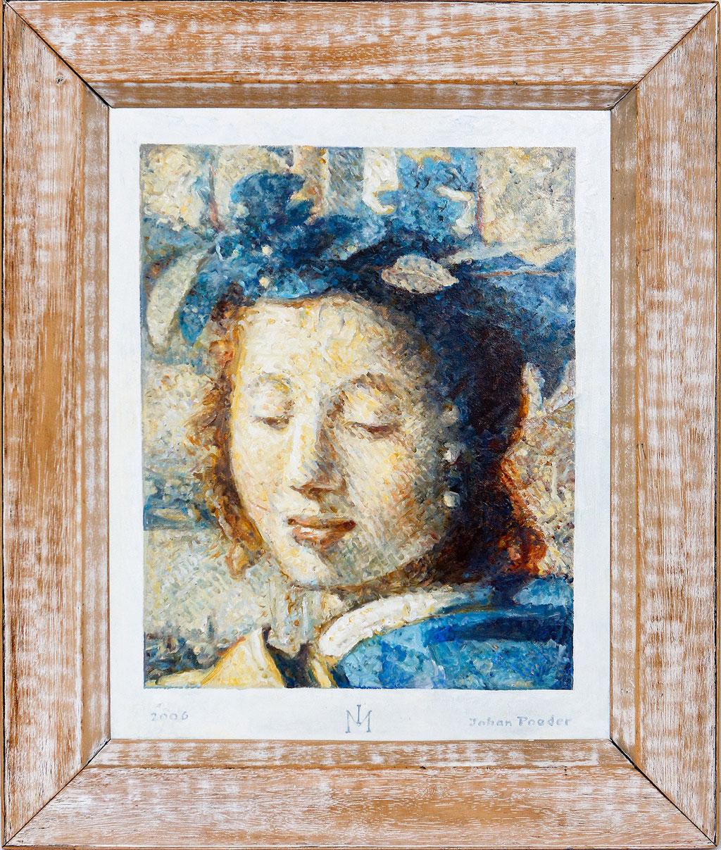 Hommage aan Vermeer, olieverf