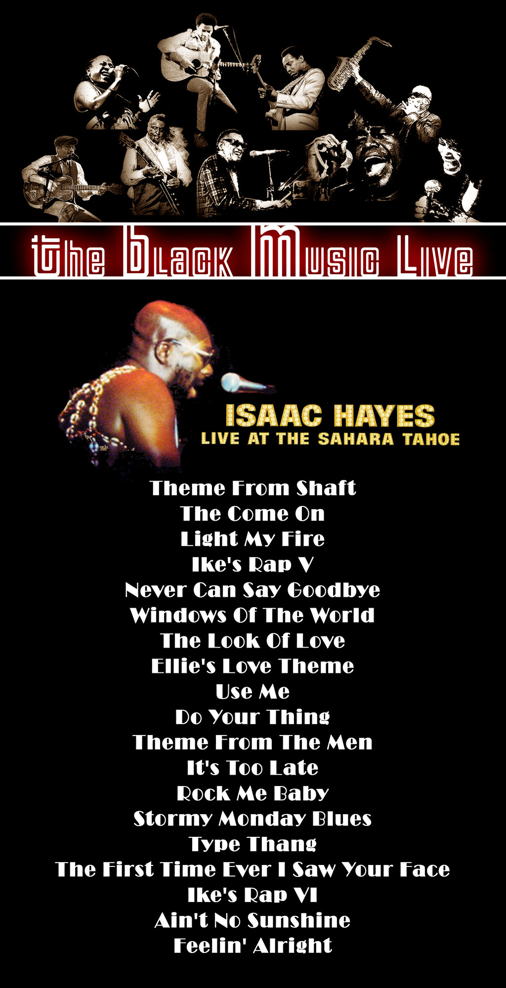 radioshow The Black Music Live #33 - Isaac Hayes, Live at the Sahara Tahoe