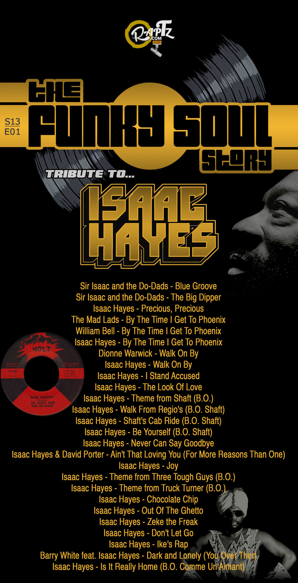 radioshow 'the Funky Soul story' S13/E01 - Tribute To Isaac Hayes (september 2018)