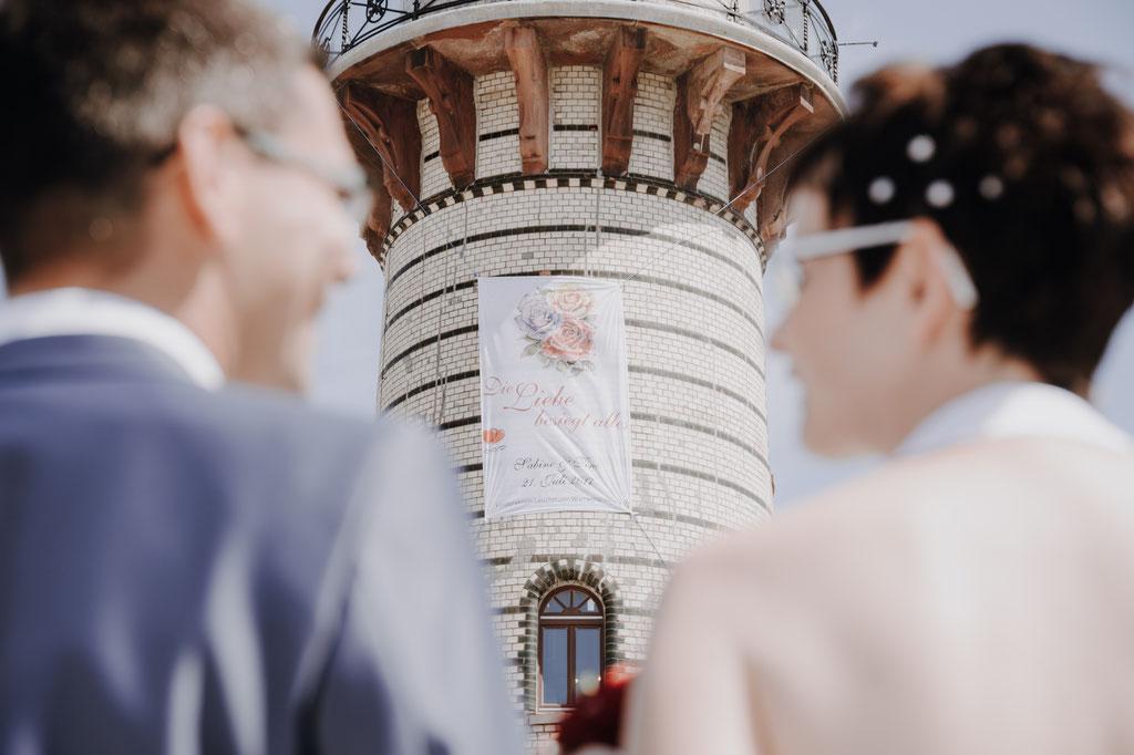 Vor der Freien Trauung auf dem Leuchtturm in Warnemünde