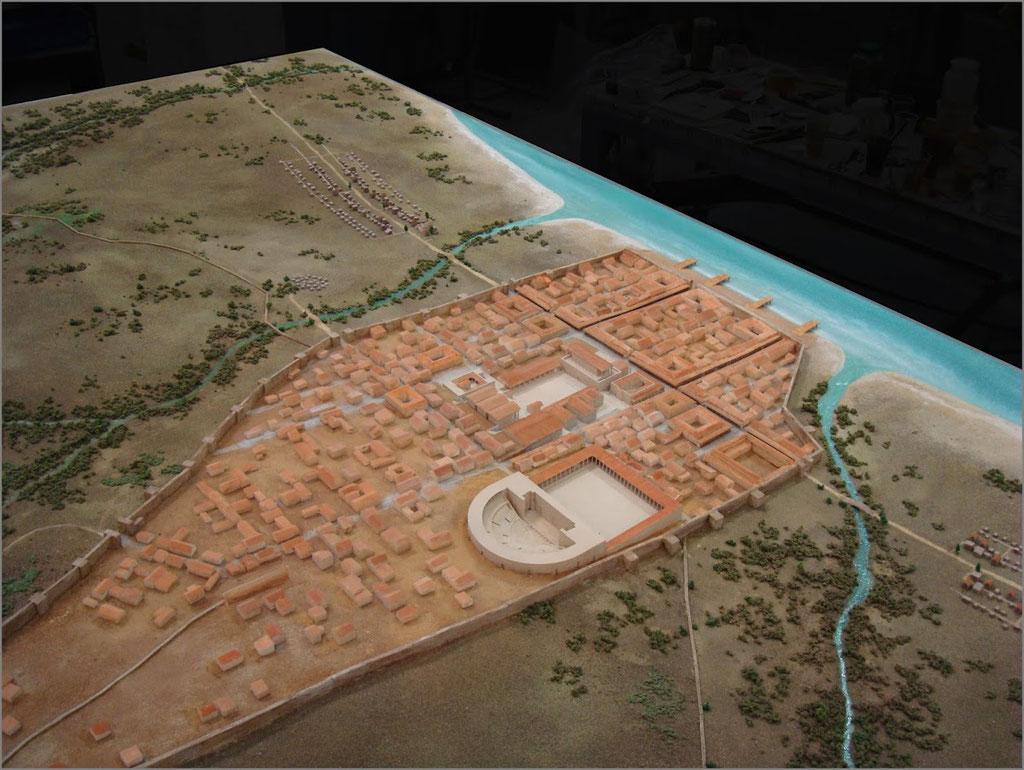Maqueta poblacion romana de Baelo Claudia