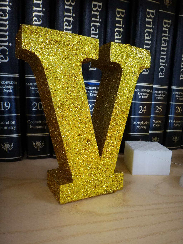 Letra Acabado Glam Oro