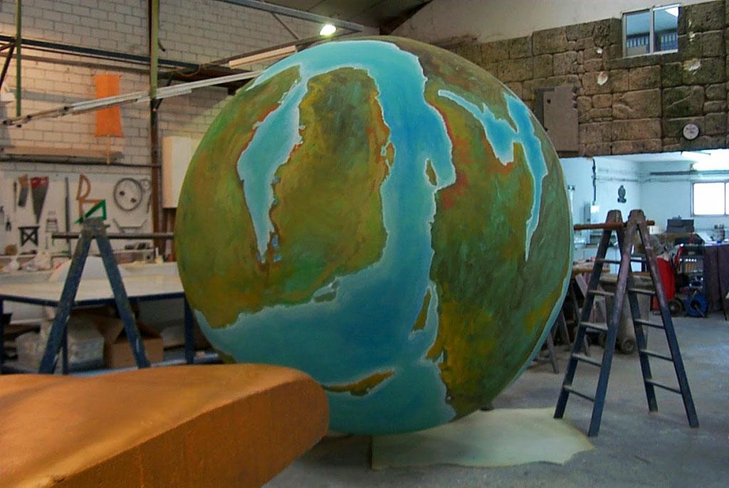 Globo Terraqueo Continentes Utópicos