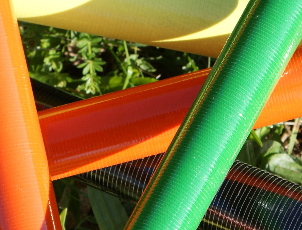 Tubes composites fibre de verre colorée drapés