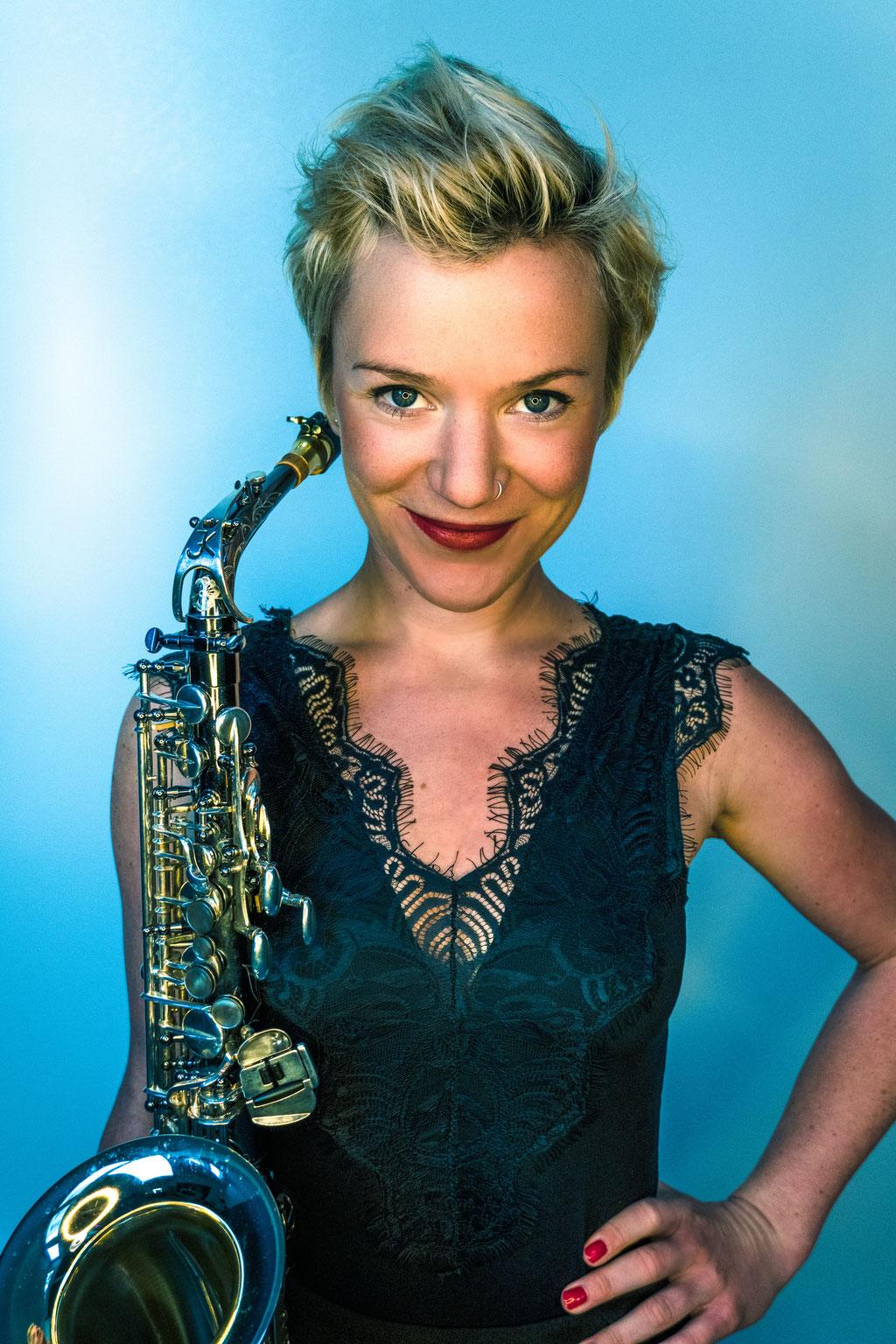 Saxophonistin Event