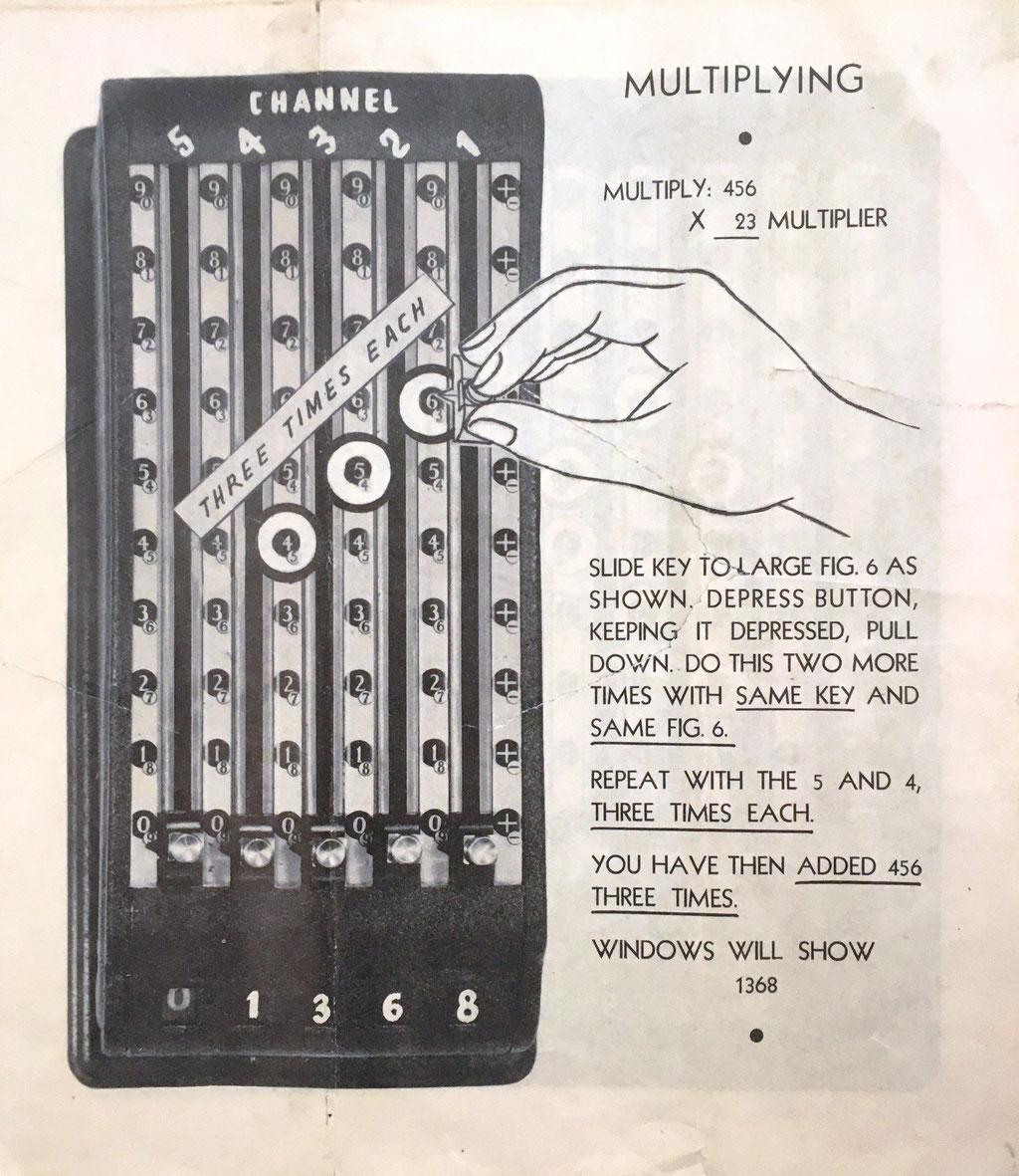 El folleto con las instrucciones de uso tiene 12 páginas: página de la multiplicación