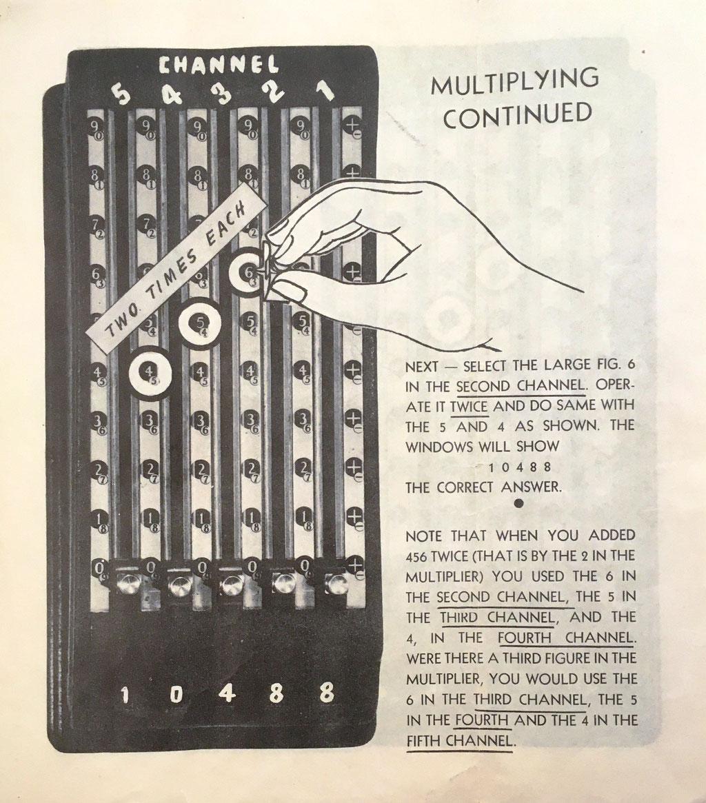 El folleto con las instrucciones de uso tiene 12 páginas: continuación de la multiplicación