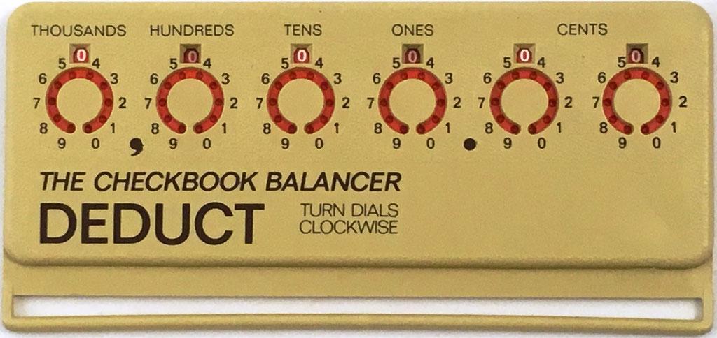Reverso (retirar) de THE CHECKBOOK BALANCER DEPOSIT, fabricado por Diamond International Corp. (Pasadena, California, EE. UU.)