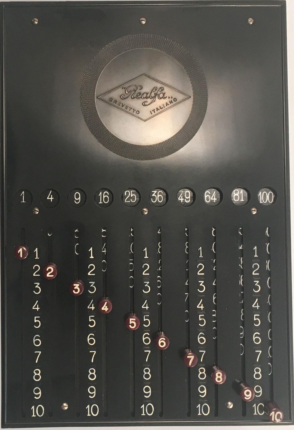 """Tabla de multiplicación """"Tavola Pitagorica REALFA"""", 17x25 cm"""