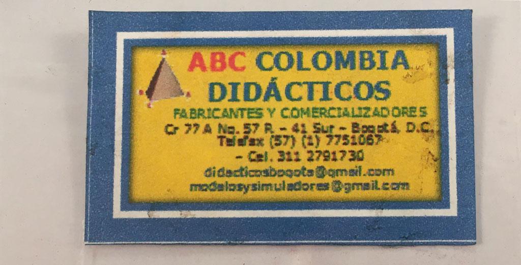 """Distribuidora de las """"REGLETAS MATEMÁTICAS"""" ABC Colombia Didácticos"""
