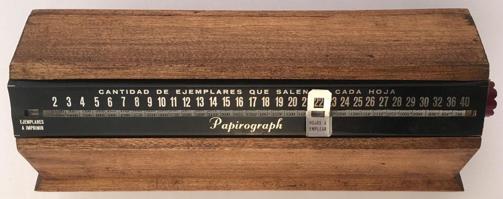 Cilindro multiplicador PAPIROGRAPH, para uso en imprenta, 27X9X8 cm
