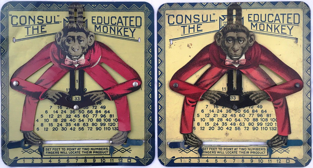 Comparación de los dos ejemplares de CONSUL The Educated Monkey