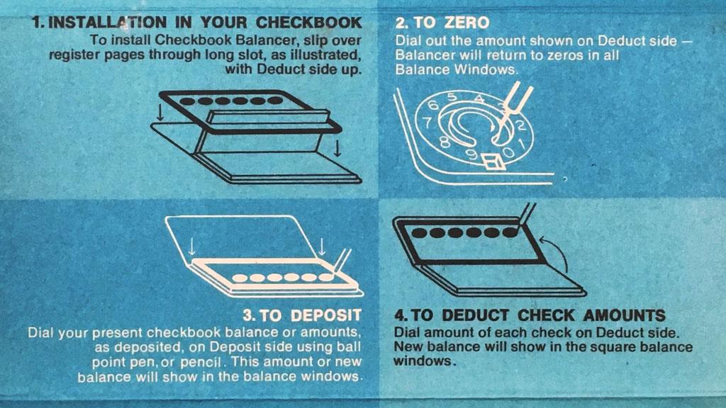 Instrucciones de uso (y cómo guardarlo en la chequera) en el interior de la caja