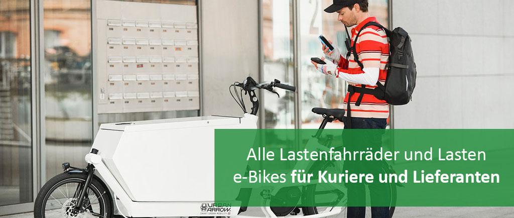 Lastenräder für Kuriere und Lieferanten