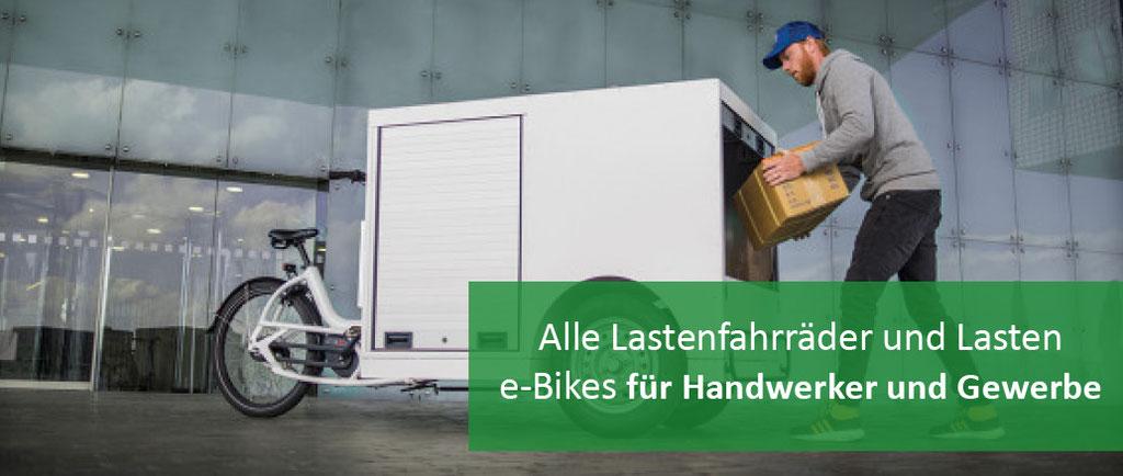 Lastenräder für Gewerbe und Handwerker
