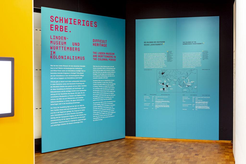 Innenausbau, Museumsbau, Objektbau von Wienss Innenausbau aus Welzheim für die Region Stuttgart, Reutlingen und weit darüber hinaus... das Lindenmuseum Stuttgart von www.wienss-innenausbau.de - cyanblau