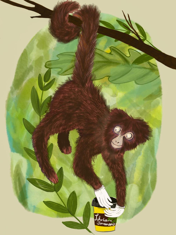 Gib dem Affen Gelee Bananen