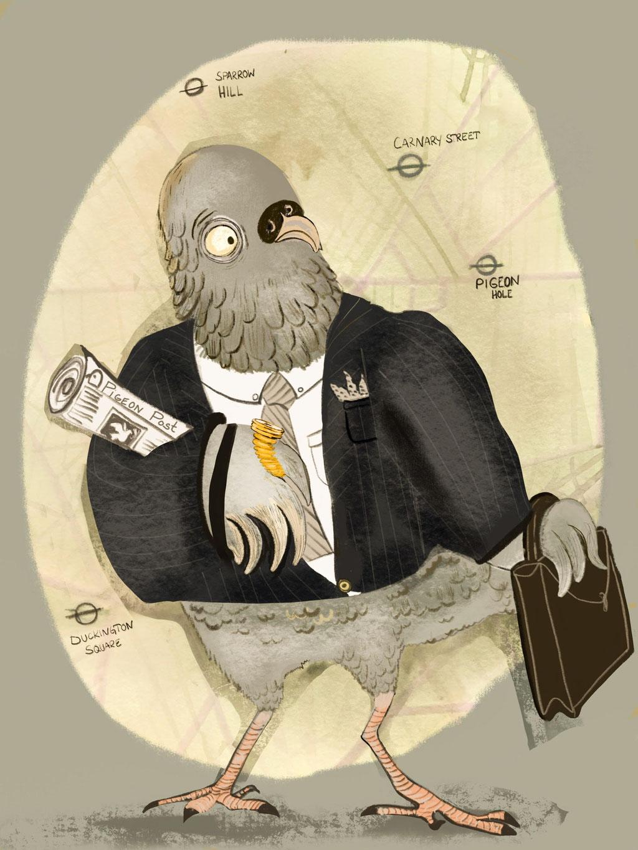 Pigeon hole, oder Tauben Stress