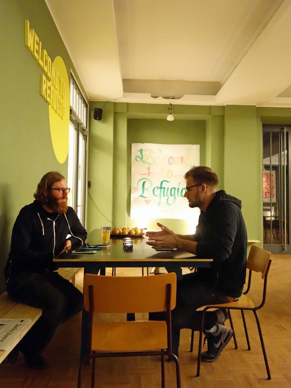 Andreas Romeike von Refugio und Paul Jonczyk von CO-WC