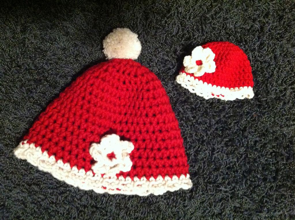 Mädchen Mütze mit Baby Mütze