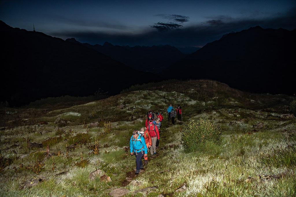 Sonnenaufgangswanderung auf den WIRT ab St.Christoph am Arlberg