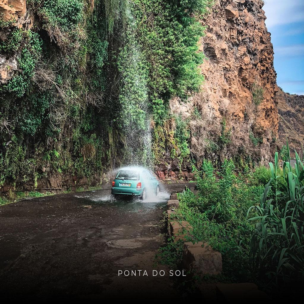 Lieblingsplätze auf MADEIRA: Straßen - Wasserfall bei PONTA DO SOL