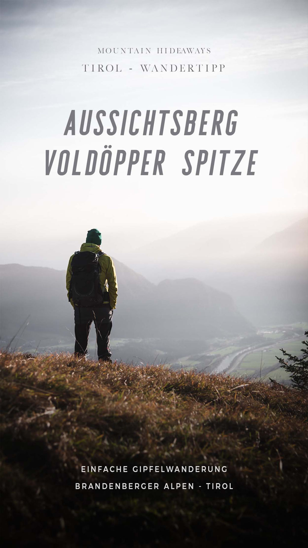 Wandertipp Tirol: Aussichtsberg Voldöppberg (Voldöpper Spitze), Alpbach - Brandenberger Alpen,  einfache Gipfelwanderung mit großartiger Aussicht über das Inntal