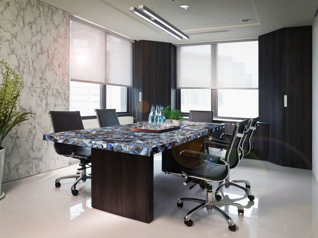Blue agate luxury table