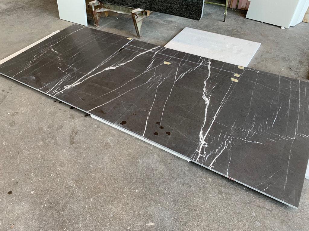 Marmer tegels gezaagd op maat