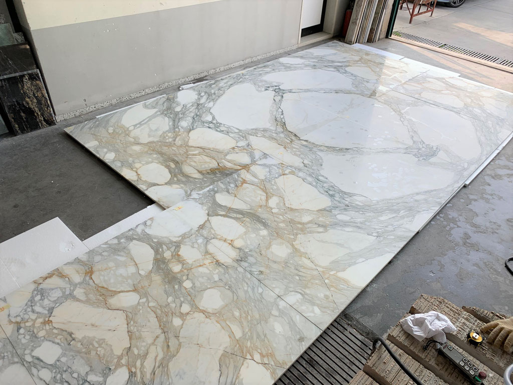 Calacatta marble in book match