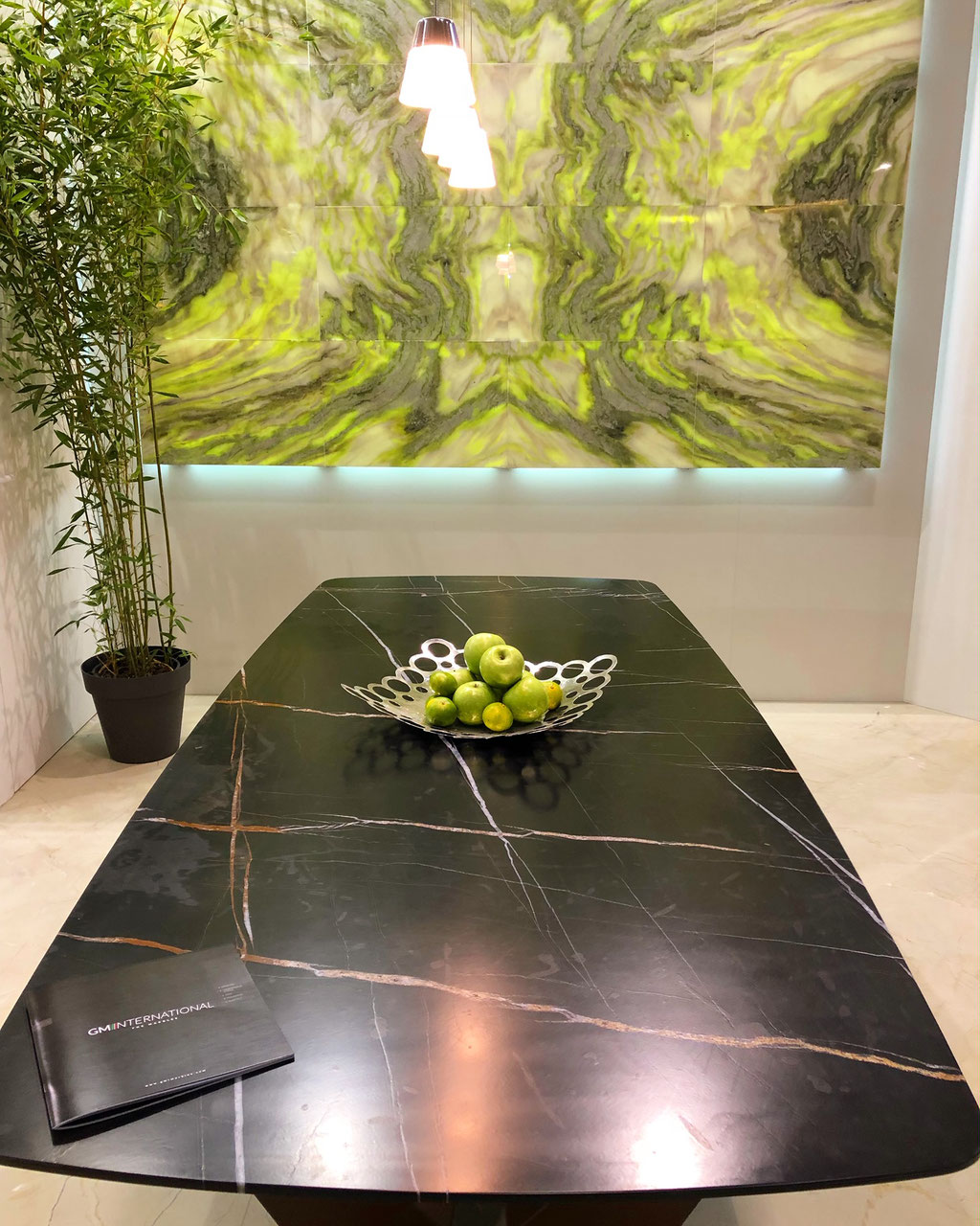 Sahara Noir marble luxury table