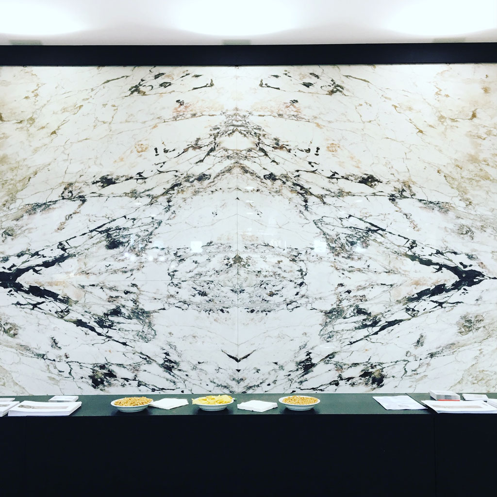 White marble in diamond match