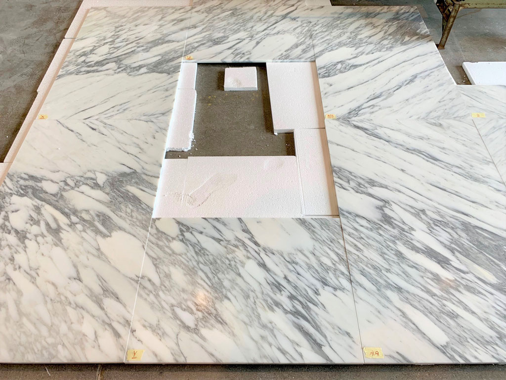All marble tiles are numbered