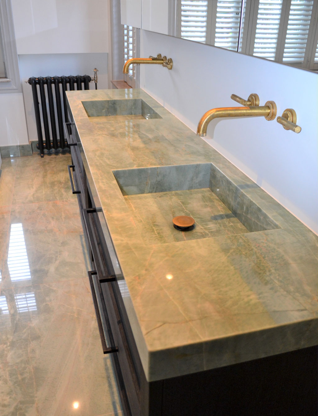 Luxury marble vanity top
