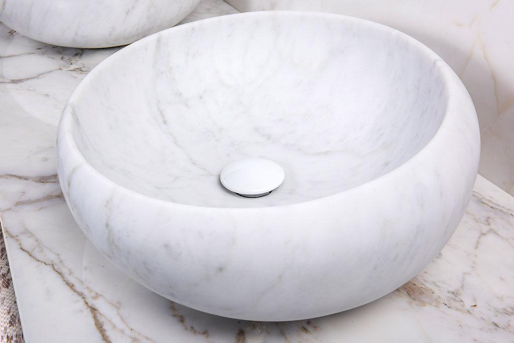 Bianco Carrara marmer waskom
