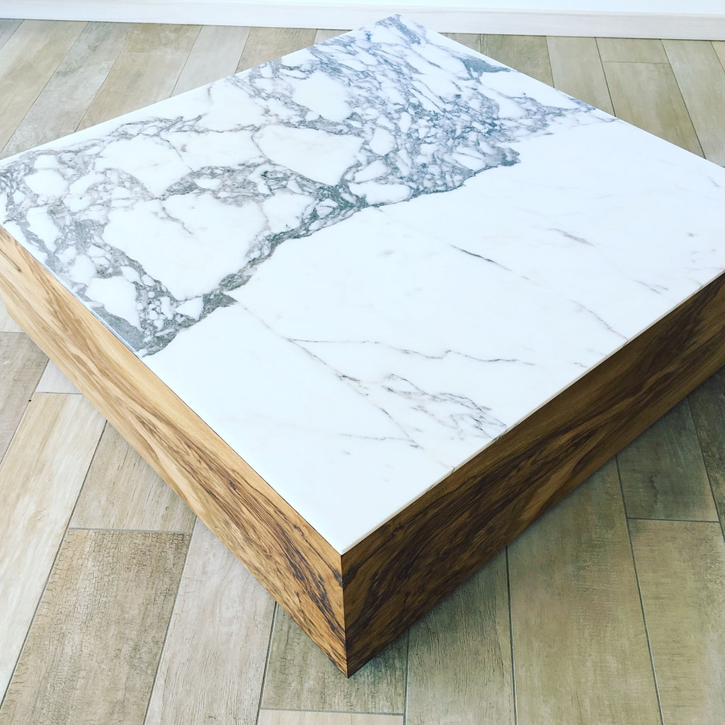 Calacatta marble side table