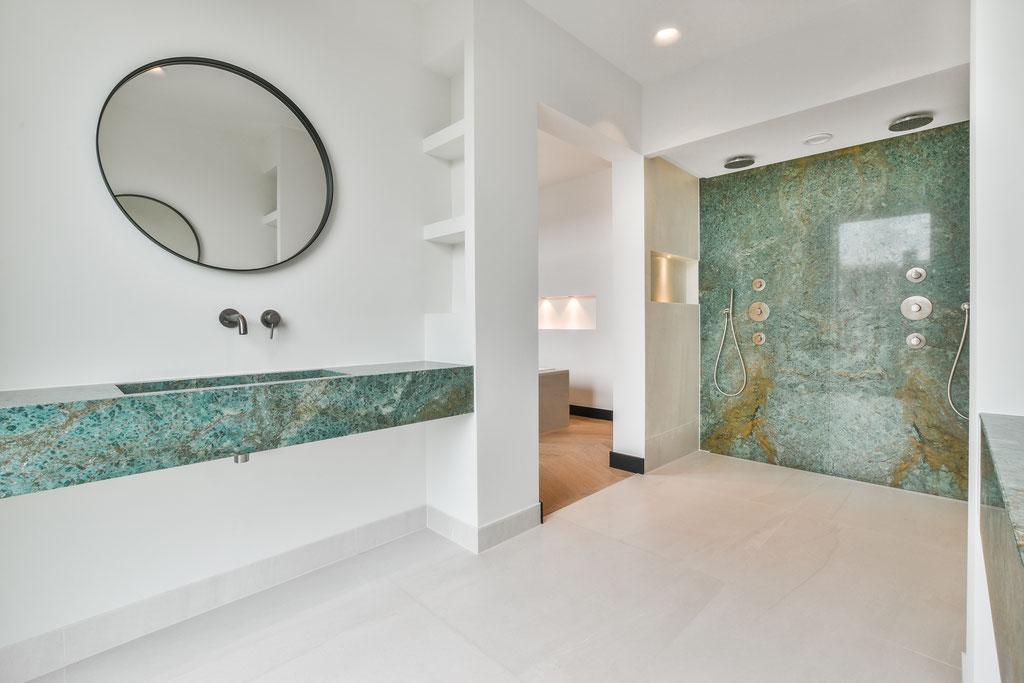 Een fantastische marmer badkamer