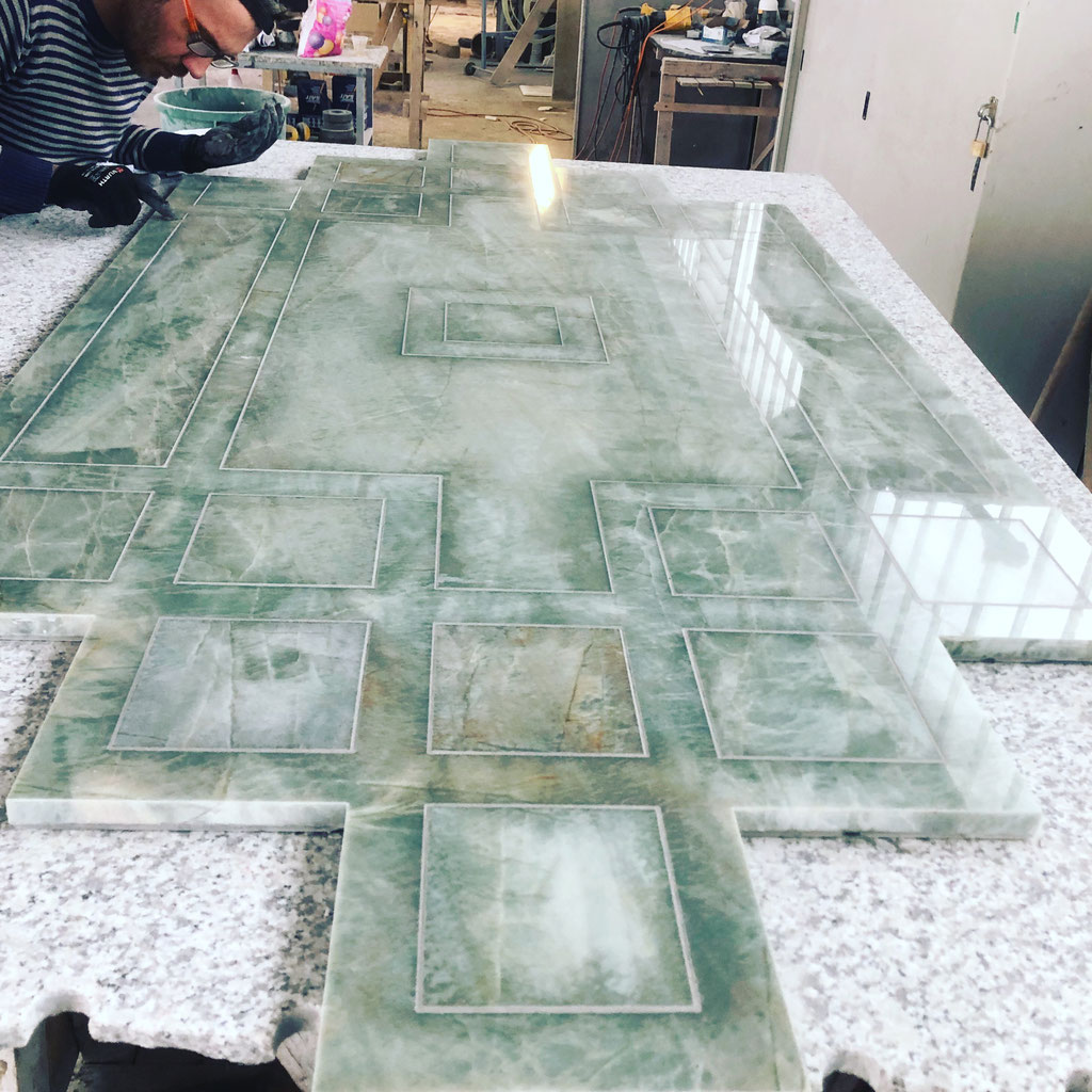 Super skilled professionals in marble